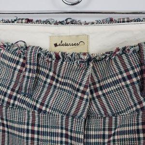 Anthropologie Pants - Anthropologie - Elevenses - Plaid Pant / Trouser